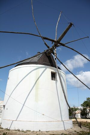 Windmill, Vejer de la Frontera, Spain Stock Photo