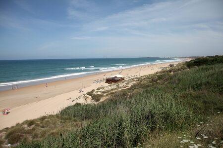 Playa de la Barrosa, C�diz, Spain Stock Photo