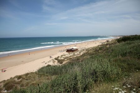 Playa de la Barrosa, C�diz, Spain Stock Photo