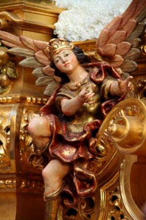 tallado en madera: escultura religiosa, imaginera, Jerez Foto de archivo