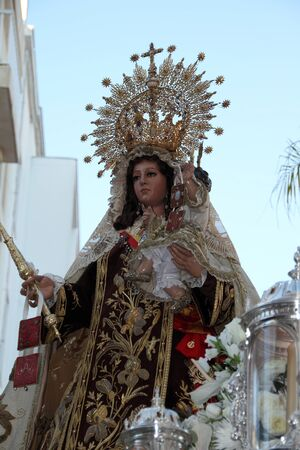 Virgen del Carmen of San Fernando Stock Photo