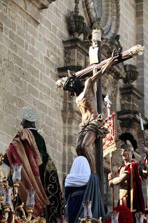 religiosity: popular religiosity, brotherhood of Love Jerez Stock Photo