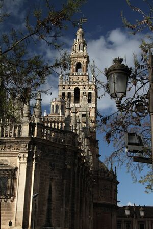 Seville Cathedral and Giralda Stock Photo