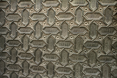 Puerta Almohade, catedral de Sevilla Stock Photo