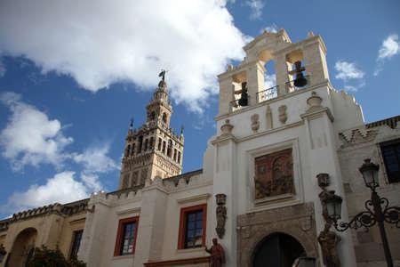 Giralda y catedral, Sevilla Stock Photo