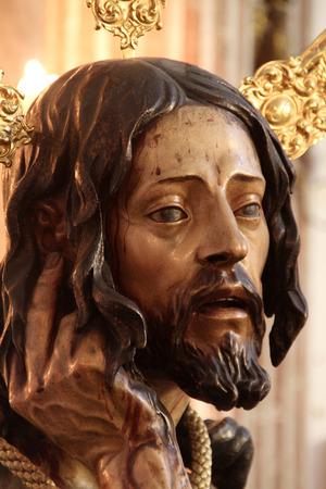 paciencia: Cristo de la Humildad y Paciencia, Cádiz Foto de archivo