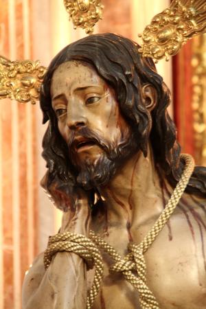 paciencia: Cristo de la Humildad y Paciencia, C�diz Foto de archivo