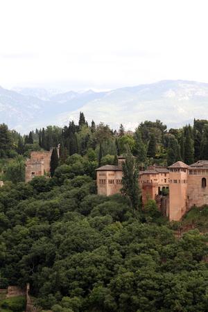 the  alhambra: Alhambra in Granada, monument nazar