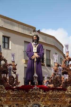 Easter procession, The Captive, Jerez Stock Photo