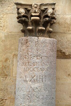 Milestone, Roman signposting raised, Cordoba