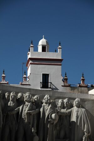 Cadiz, monument and lookout tower Stock Photo