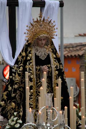 procession: Virgen de la Soledad, procession, Easter