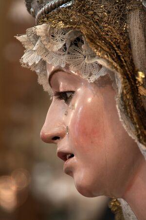 Virgen de la Soledad, the pulley, XVII century Stock Photo