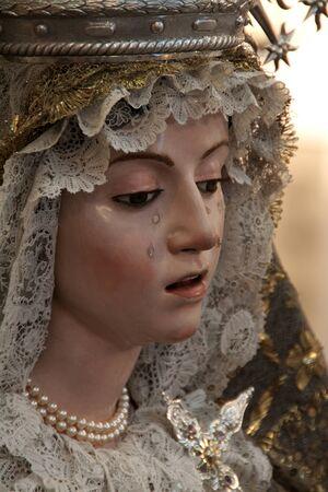 Virgen de la Soledad, siglo XVII, La Roldana