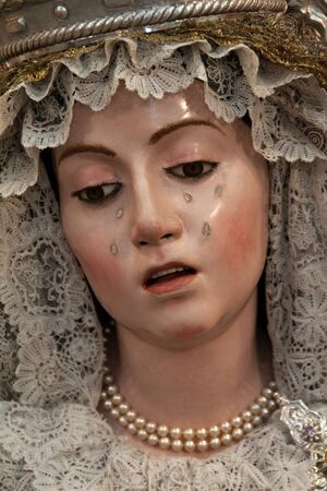 Virgen de la Soledad, obra de La Roldana, 1 688
