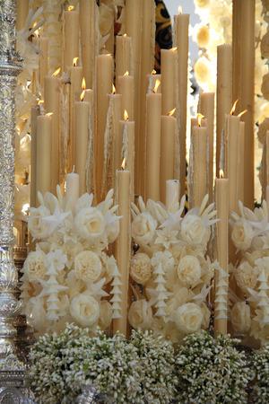 Wax, candlestick step pallium