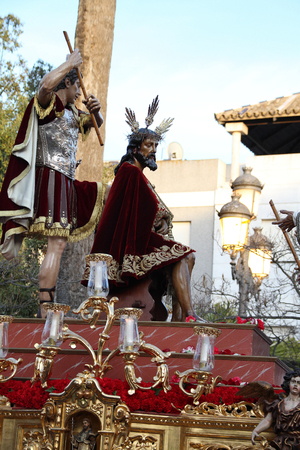 Coronation of Thorns, Passion of Christ, Jerez Stock Photo