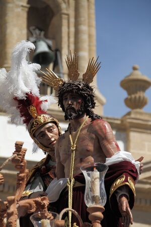 stripped: Jesus Stripped Easter Cdiz Stock Photo