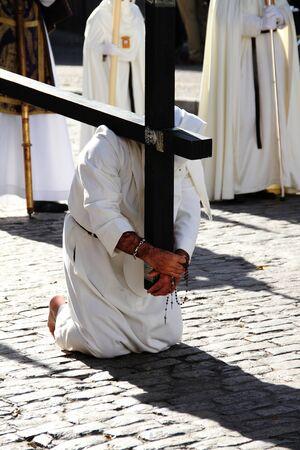 penance: Penitent penance Easter Jerez