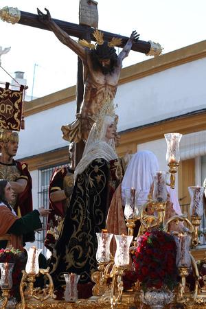 jerez: Love Jesus, Holy Week in Jerez Stock Photo