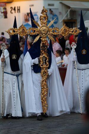 gua: Cross gua Jerez Brotherhood of Bitterness Stock Photo