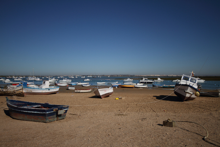Boats, fishing village of Sancti Petri