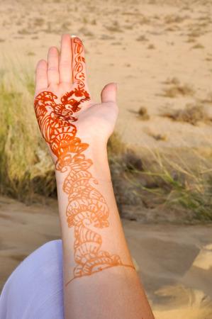 henna, Mehndi on the forearm Standard-Bild