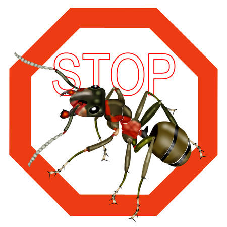 formic: stop ants, stop insect Stock Photo