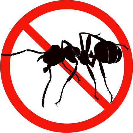 formic: dangerous insect road sign black silhouette