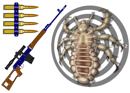 louse: kill insect, gun,target,