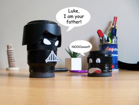 tribute: Camera lenses with  funny faces Inglese version