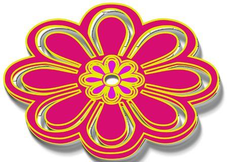 knop of bloem decoratie Stockfoto