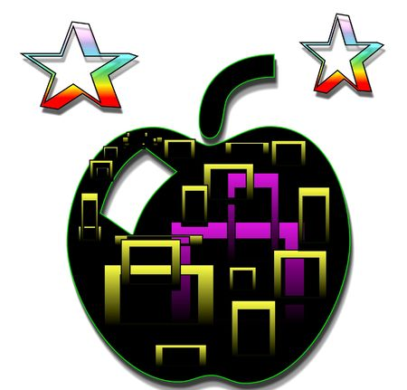 art and graphic  background apple photo