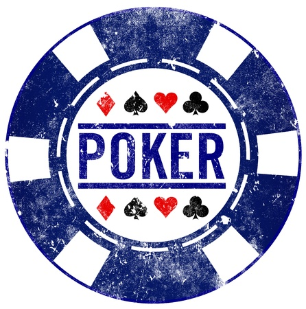 poker chip: chip de p�quer sello grunge