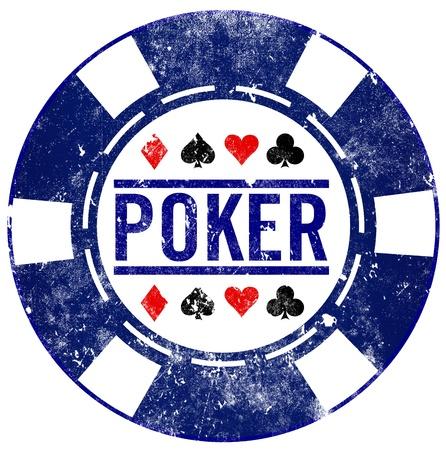 jetons poker: poker timbre grunge puce