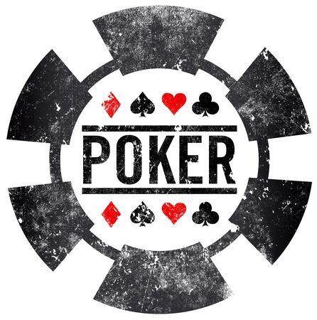 poker grunge stamp