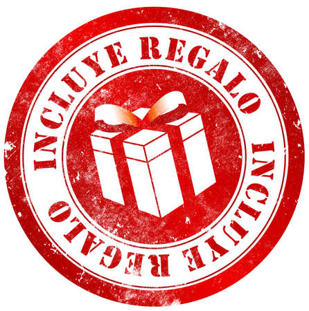 spanish language: gift included grunge stamp, in spanish language