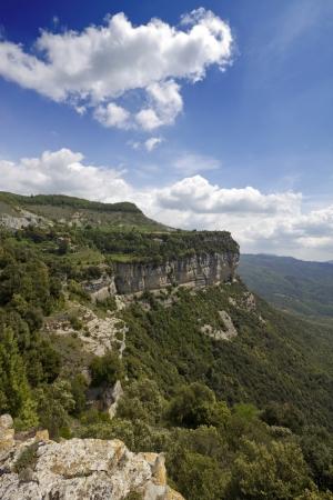calcareous: Calcareous cliffs in Tavertet  Collsacabra natural park , Catalonia  Spain