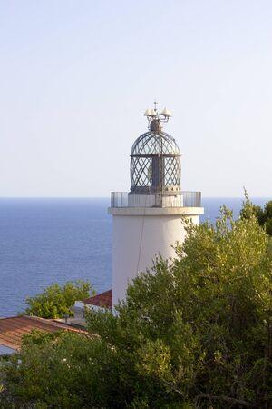 View of Far de Sant Sebasti, lighthouse in Costa Brava, near Palafrugell