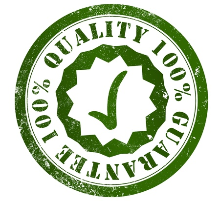 quality 100  guarantee grunge stamp, in english language photo