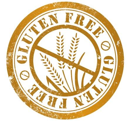 gluten free grunge stamp, in english language