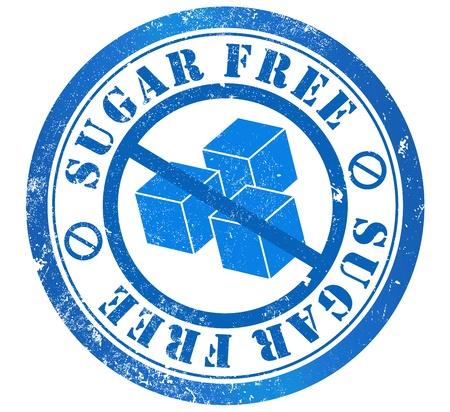 sugar free grunge stamp, in english language Stock Photo