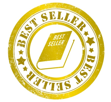 best seller: best seller grunge stamp, in english language