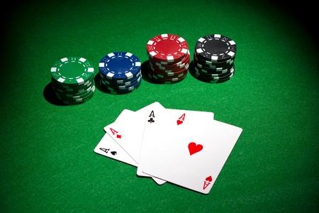 cartas poker: fondo poker Foto de archivo