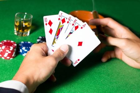 playing poker photo