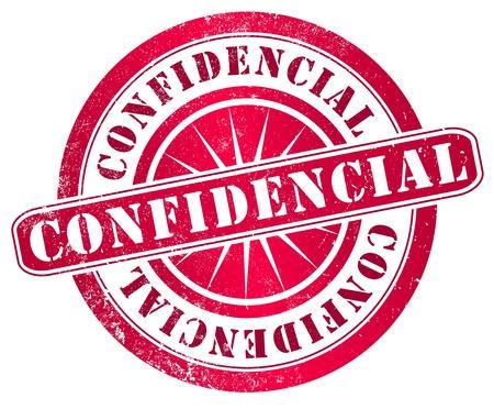 confidential grunge stamp, in spanish language