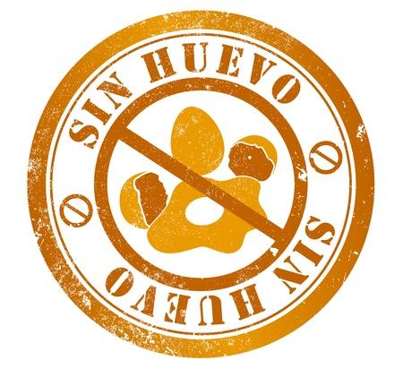 spanish language: egg free grunge stamp, in spanish language Stock Photo