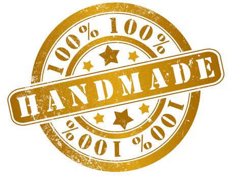 artisanal: 100  handmade grunge stamp, in english language
