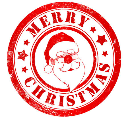 merry christmas grunge stamp, in english language photo