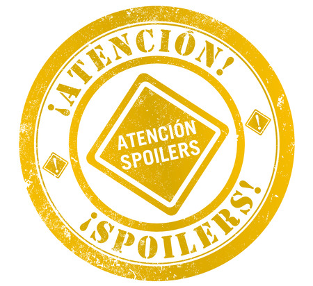 disclose: attention spoilers grunge stamp, in spanish language